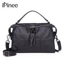 e283bc3a162bd IPinee 100% Frauen-handtaschen der Europäischen Und Amerikanischen Stil  Weiblichen Umhängetasche Einfach Design Plaid