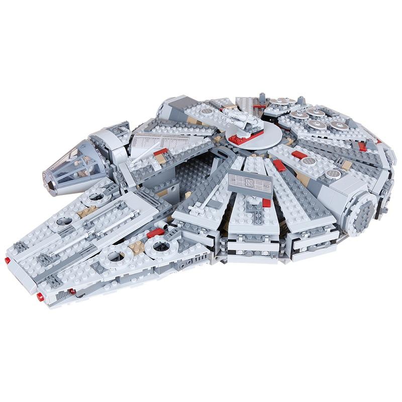 1381pcs Lepin 05007 Star War Series Building Blocks The Last Jedi Set Millennium Compatible 75105 Toys Falcon Model Kids Gits rollercoasters the war of the worlds