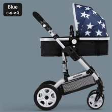 Hot Selling 2016 New Buggy Can Sit and Lie 360 Degree Rotation Baby Stroller Russian Free Shipping Foldable Portable Pushchair
