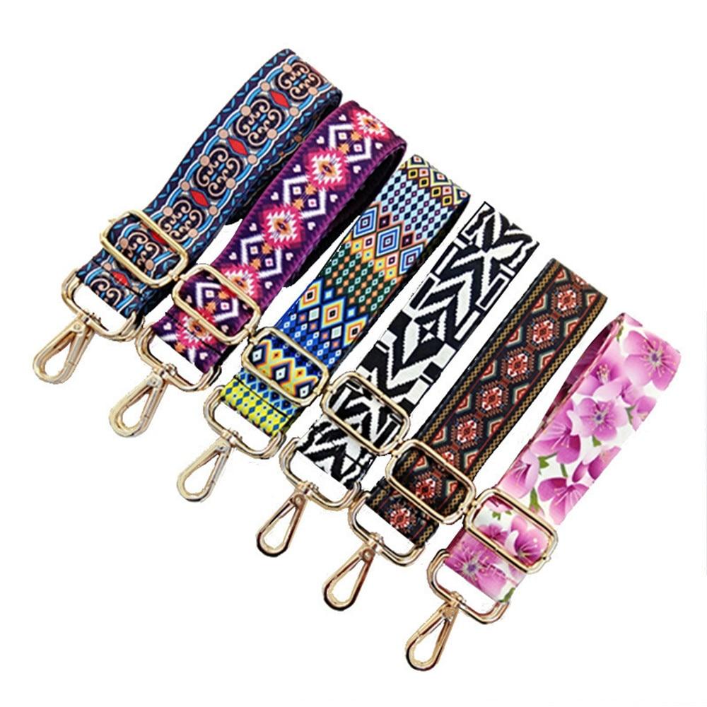Rainbow Adjustable Nylon Belt Bag Strap Accessories For Women Shoulder Hanger Handbag Bag Straps Decorative Obag Handle Ornament