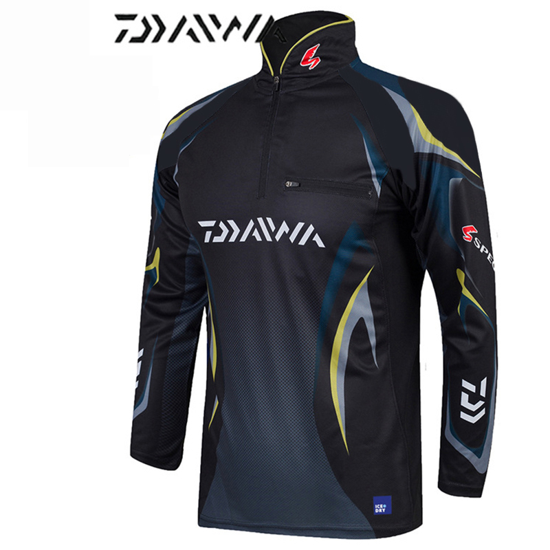 2018 Suit DAYIWA Clothing Anti-UV Jacket Fishing Clothes Coat Quick Dry Fishing Shirts Camisas Pesca Breathable Free Shpping