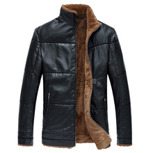 Plus Size 8XL Big and Tall Men Fur Lined Coats Jackets Winter Style Mens Brand Clothing Mens Leather Faux Fur Jacket Coats C036