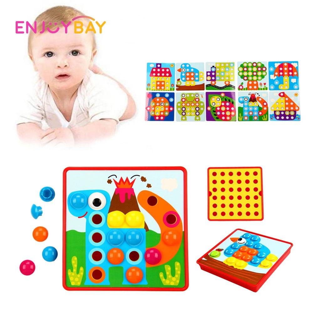 Enjoybay 3D Puzzle Oktató Játékok Kreatív Összetett Kép Puzzle - Puzzle játékszerek