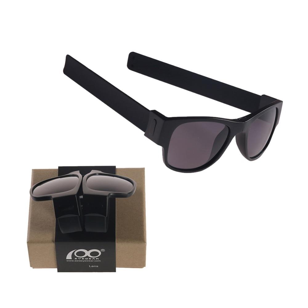 High Quality Patent Slap Folding Polarized Sunglasses with Case Protable Foldable Sport Holder Sun Glasses