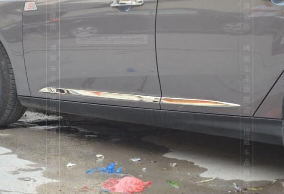 Auto décoration voiture côté porte garniture moulage moulage revêtement d'habillage corps frotter bandes pour Ford Focus 3 mk3 2012 nouveaux accessoires