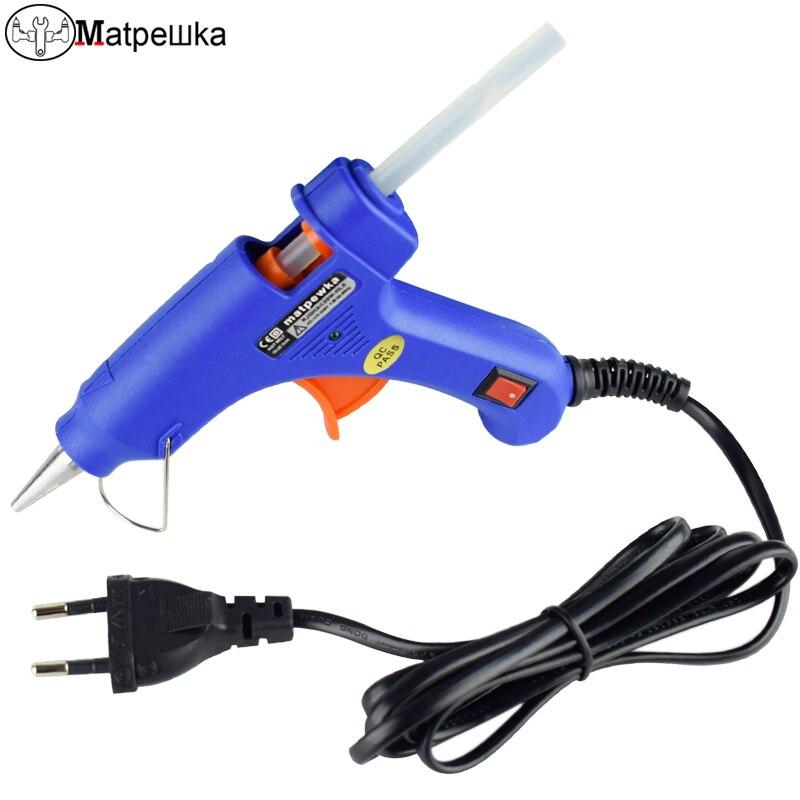 100-240 W pistolet à colle Électrique hot melt gun avec des lumières LED Artisanat réparation électrique hot melt gun