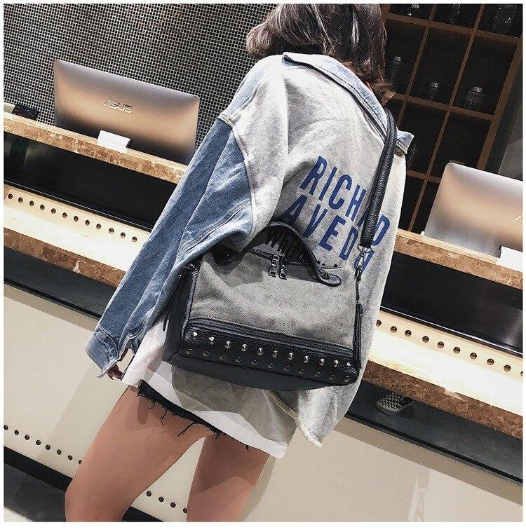 Vintage Rivet women Handbag Matte leather Boston Big Tote bag Winter new Shoulder Bags for Women Messenger Bag Blosa Sac (20)
