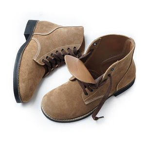 Image 3 - Replica WW2 US Army GI Rough Out Ankle Boots American Leather Boots All Sizes US/406113