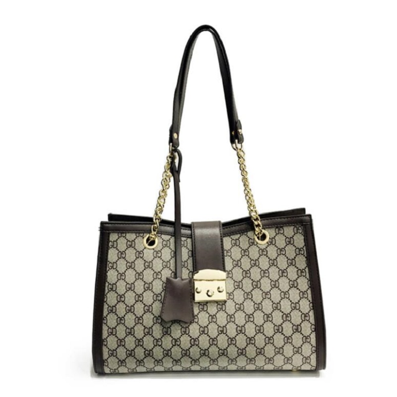 2019 New Women Fashion GD Plaid Bags Big Capacity Office Lady Zipper Pocket Shoulder girls schoolbag