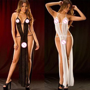 Cryptographic Black Mesh Transparent Bodysuit Metal Chain Straps Backless Bodysuits Sexy Bodycon Jumpsuit Fashion Club Party(China)