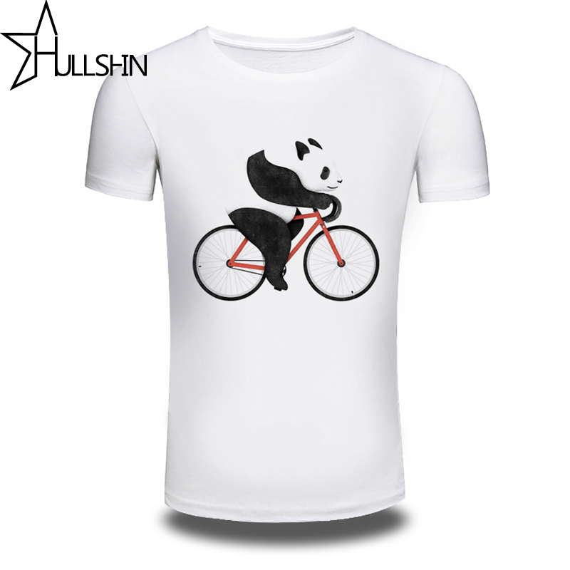 Bicycle Panda 3d Printed 2016 T Shirt Men White Mens Top
