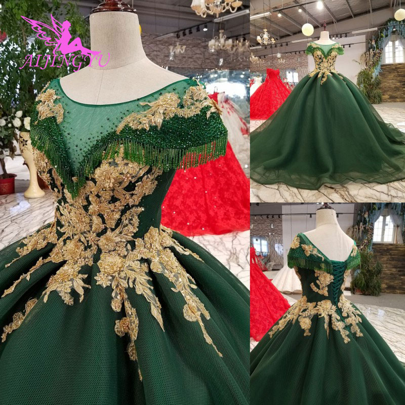 Image 2 - AIJINGYU Lace Wedding Dresses Moroccan Gowns Korean Royal Queen With Sleeves New Gown Indian Wedding DressWedding Dresses   -