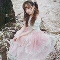 Princesa doce lolita saia BOBON21 Starlight super pesado estrela saia longa lantejoulas virou uma pequena fada B1354