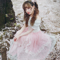 Princess sweet lolita skirt BOBON21 Starlight super heavy star long skirt sequins turned a small fairy B1354
