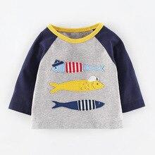 kidst shirt 2016 new babys' fashion t shirts baby fish printed floral boys girls t-shirts children casual clothing