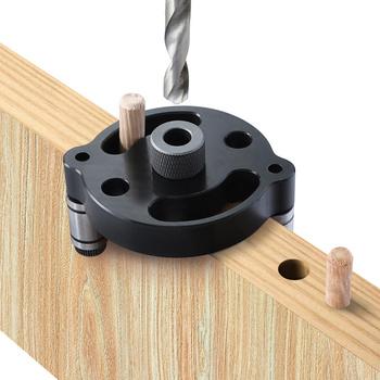 Pionowy kieszonkowy uchwyt 6 8 10mm Doweling Jig drewna Jig drewna wiertła narzędzie do stolarki kołki rozporowe tanie i dobre opinie EVANX Maszyny do obróbki drewna Wiertło kręte 70*58*37mm Wiercenia drewna ZK6810 High carbon steel Pocket Hole Jig Aluminum Alloy