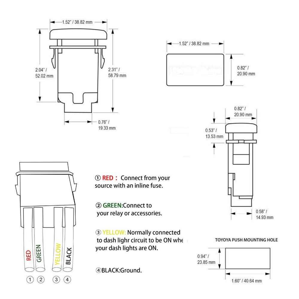 medium resolution of  12v 24v push switch usb power symbol car big push button switch for hilux surf