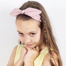 Newborn Headbands Cotton Polka Dot Headband Kids Rabbit Ears  Head wrap Hair Bands Cutey Accessories все цены