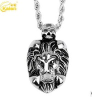 2016 25 OFF Low Price Stainless Steel Lion Head Pattern Necklace For Men Fast Free Shipping