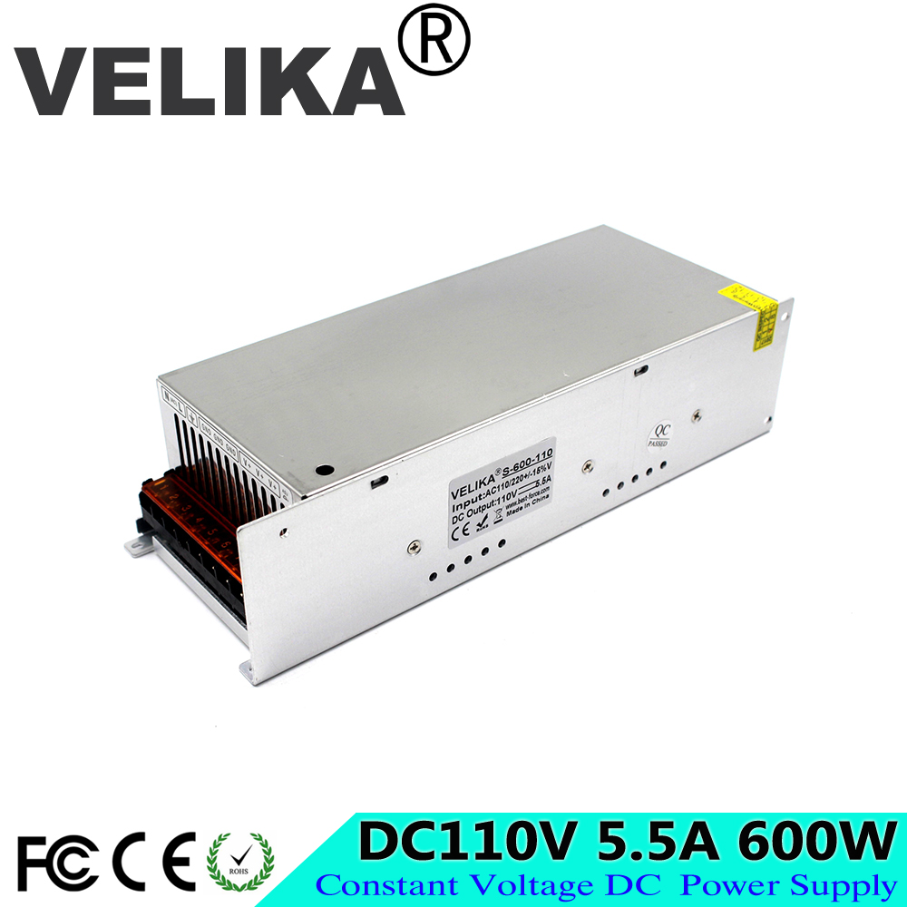 Professional DC110V 5 5A 600W Switching power supply Driver AC220V To DC110V SMPS for Industrial Equipment