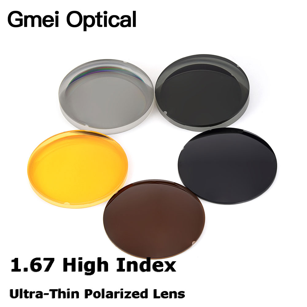 Gmei Optical 1 67 High Index Ultra Thin Polarized Sunglasses Lens 5 Colors Optional Single Vision