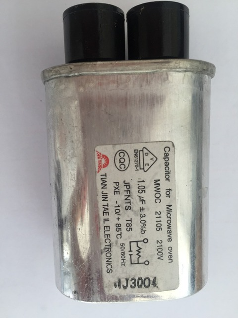 Ac 2100v 50 60hz Microwave Oven High Voltage Hv Run Capacitor 1 0uf 0 91uf 95uf 05uf