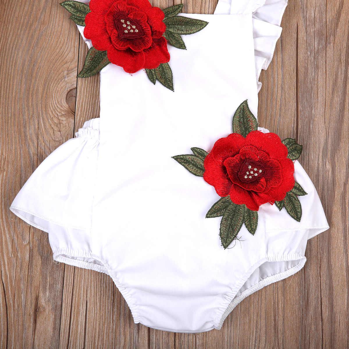 Pudcoco новейший прекрасный ребенок младенец девушки Мода белый черный цвет летающие рукава цветочные боди от 0 до 24 м