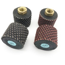 цена на 2 2 inch 50mm Dry Diamond Polishing Drum Wheels for Granite/Concrete Sink Cutouts M14 usa 5/8-11 thread