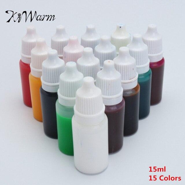 KiWarm Heißer Verkauf 15pcs15ml Kristall Epoxidharz Pigment UV Harz ...