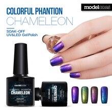 Barniz Modelones 1 unids 10 ml Camaleón 3D Fantasma Colorido Esmalte de Uñas de Gel Que Cambia de Color de Laca De Uñas de Gel