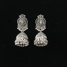 India Retro Birdcage Earrings Handmade Antique Silver Tribal Jewelry BOHO Hippie Wind Pakistani Muslim Thailand Nepal