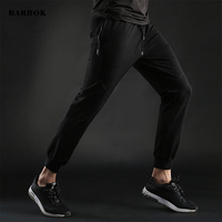 BARBOK Running Pants Sport Joggers Trousers Black Fitness Gym Clothing With Pockets Leisure Sweatpants size M XXXL