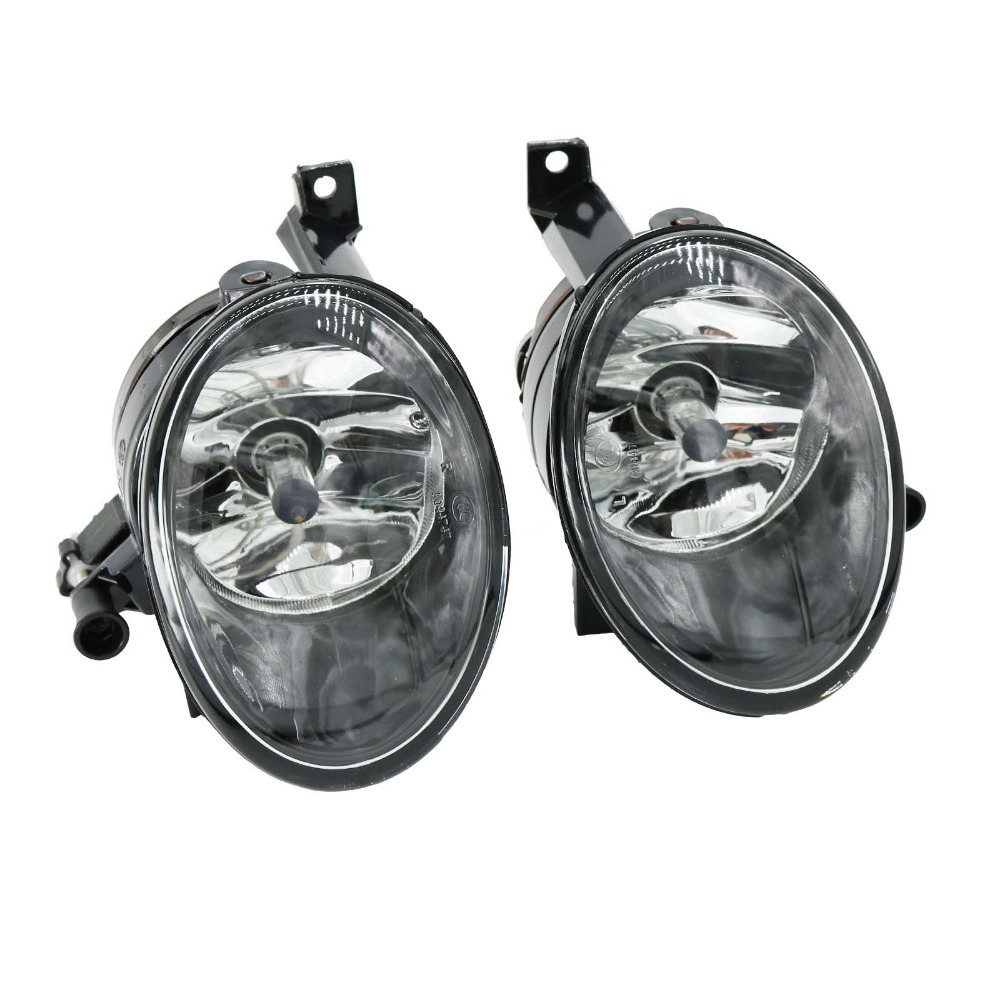 2Pcs For VW Caddy 2011 2012 2013 2014 2015 2016 Car-Styling Front Halogen Fog Lamp Fog Light right side for vw polo vento derby 2014 2015 2016 2017 front halogen fog light fog lamp assembly two holes