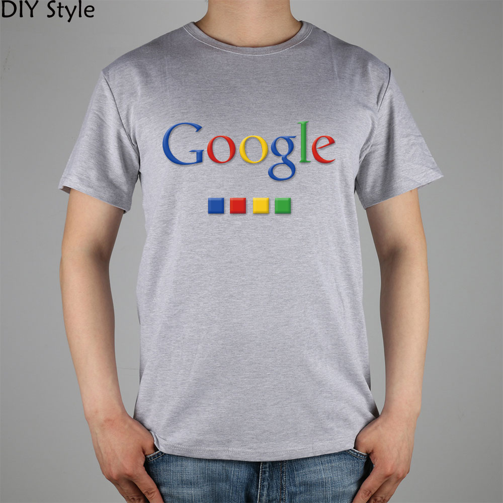 Four-color Google T-shirt cotton Lycra top 4586 Fashion Brand t shirt men new DIY Style high quality 1