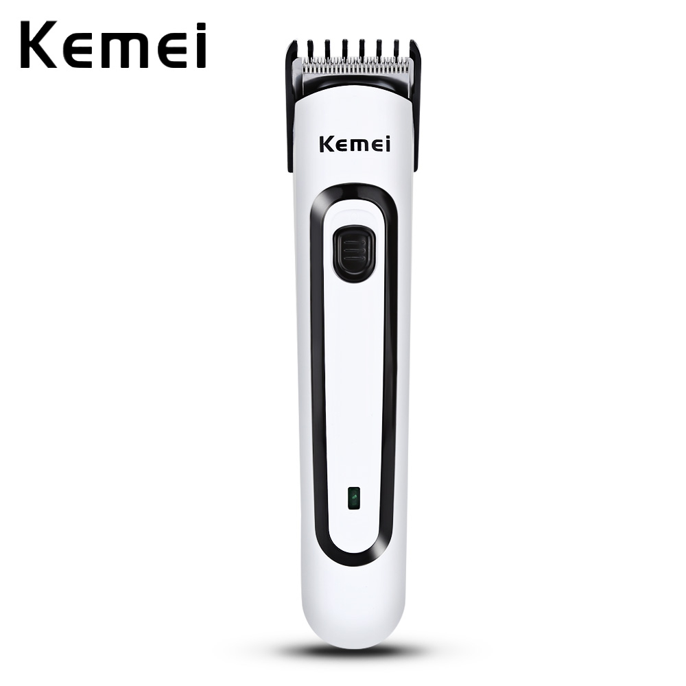 Kemei Professional Men Electric Rechargeable Hair Trimmer Clipper Shaver Razor 220-240V Hair Beard Trimmer with EU Plug philips at798 electric razor rotary beard shaver with trimmer