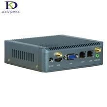 Новая акция Quad Core Мини-безвентиляторный ПК Celeron J1900 Windows 7 2.0 ГГц до 2.42 ГГц настольный компьютер с 2 LAN HDMI VGA WI-FI