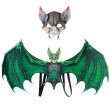 Festival Party Carnival Clothing Set Halloween Wings Vampire Bat Costume Dress Up With Mask For Adult Children