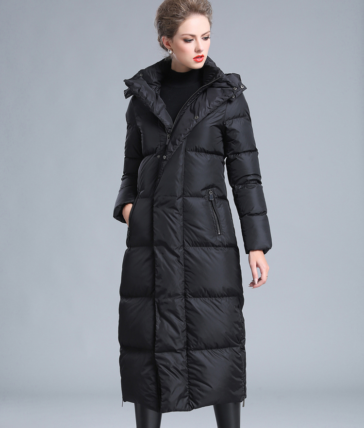 2019 Winter New Style Big Size 4XL Black Red Gray Navy Blue Women's Thick Warm Large Size Long Down Jacket
