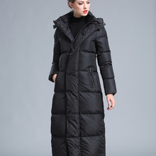 2019 winter new style big size 4XL black red gray navy blue women's thick warm large size long