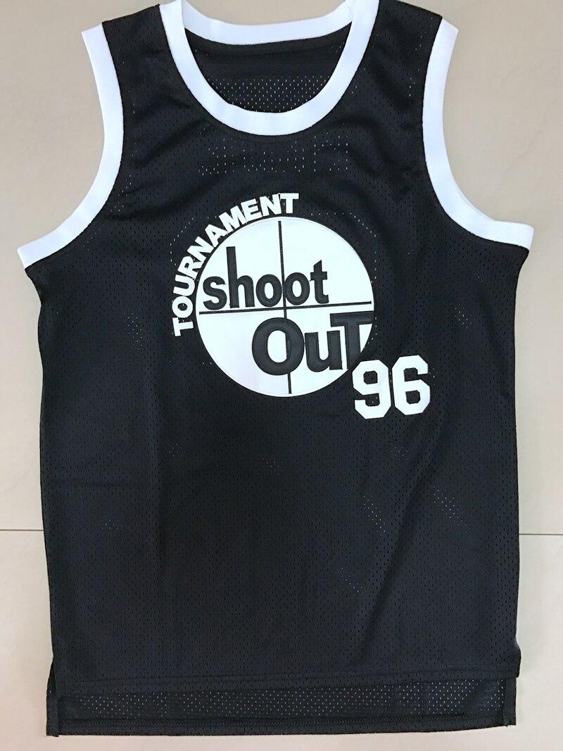 Prix pour Ci-dessus La Jante Tupac Shakur Birdie 96 Tournoi Shoot Out Basket-Ball Jersey Noir Tous piqué