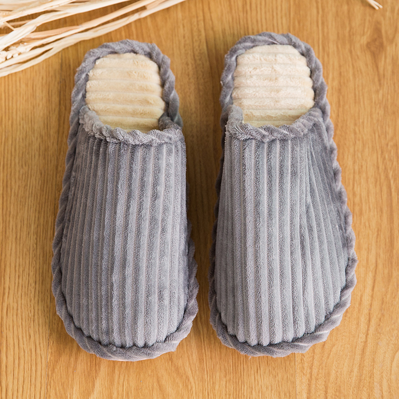UNN Striped Soft Bottom House Slippers Cotton Warm Shoes Women Indoor Floor Slippers Non-slip Shoes For Bedroom House Couple new new men women soft warm indoor slippers cotton sandal house home anti slip shoes