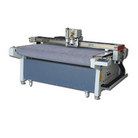 cnc oscillating knife cutting machine 1600*1000mm for paper boxes card leather PU Max. 1500mm/s