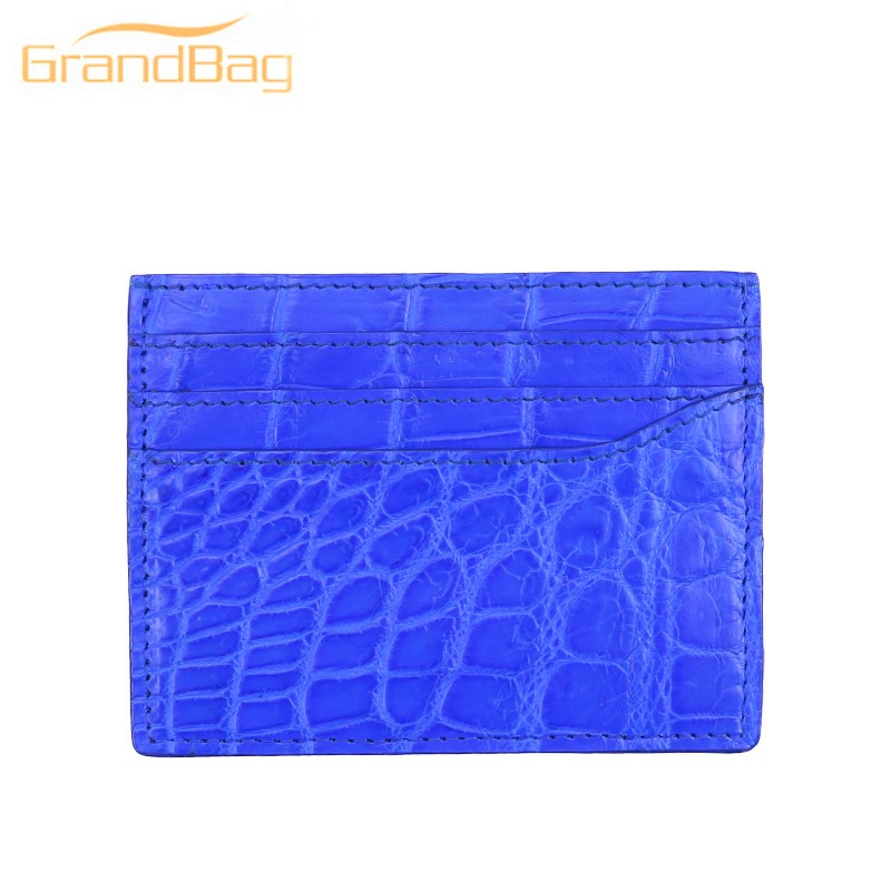 Super quality luxury genuine real croco alligator leather business card holder crocodile leather card caseSuper quality luxury genuine real croco alligator leather business card holder crocodile leather card case