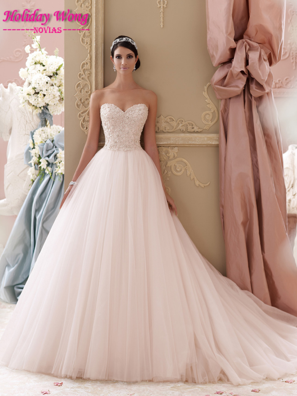 Hot S Wedding Summer A Line Sweetheart Sleeveless Beading Lace Party Pale Pink Dress 115250 In Dresses From Weddings Events On