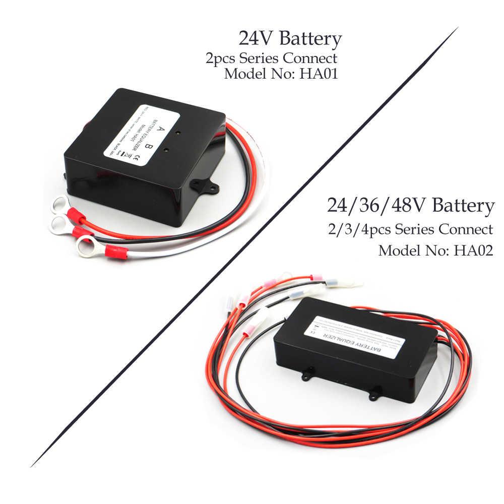 24 В 48 В солнечная система эквалайзер батареи устройство балансировки аккумуляторов зарядное устройство контроллер HA01 HA02 для свинцово-кислотной батареи банк системы Черный