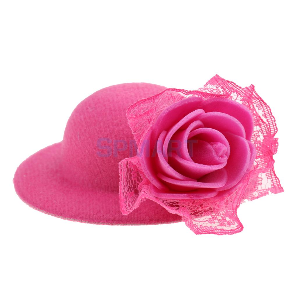 f3859caa316 Elegant Classic Doll Cap New Round Bowler Hat with Lace Decoration for Barbie  28-30cm