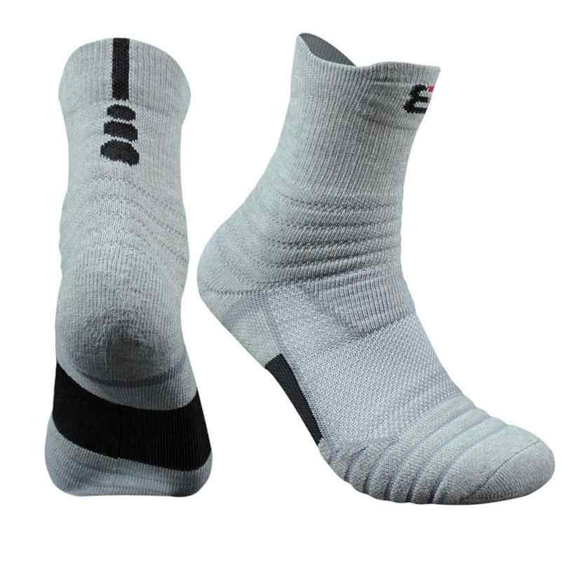 cc12773eada ... 1 Pair Basketball Socks Man Long Thickening Towel Bottom Cotton Socks  Outdoors Run Badminton Tennis Sport ...