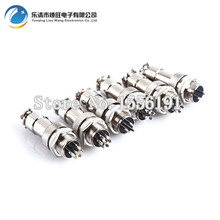 Free shipping 5 sets/kit 6 PIN 12mm GX12-6 Screw Aviation Connector Plug The aviation plug Cable connector Male and Female