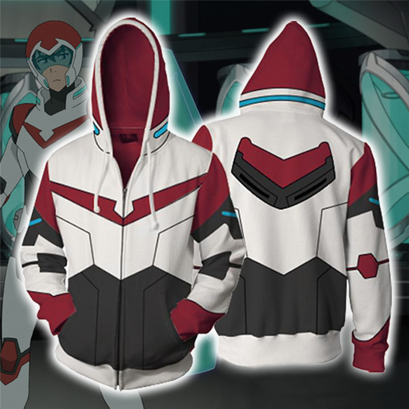 Voltron:Legendary Defender Pidge Keith Hoodie 3D Printed Zipper Hooded Jacket   Casual Sweatshirt Hoody Streatwear Dropship
