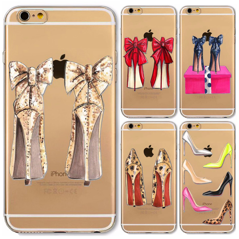 Sexy High Heels Soft TPU Case For iPHONE 6 6S 5 5S 7 7PLUS 6PLUS 4S Samsung Galaxy S6 S7 S6EDGE S5 NOTE 4 5 Individuality CASE